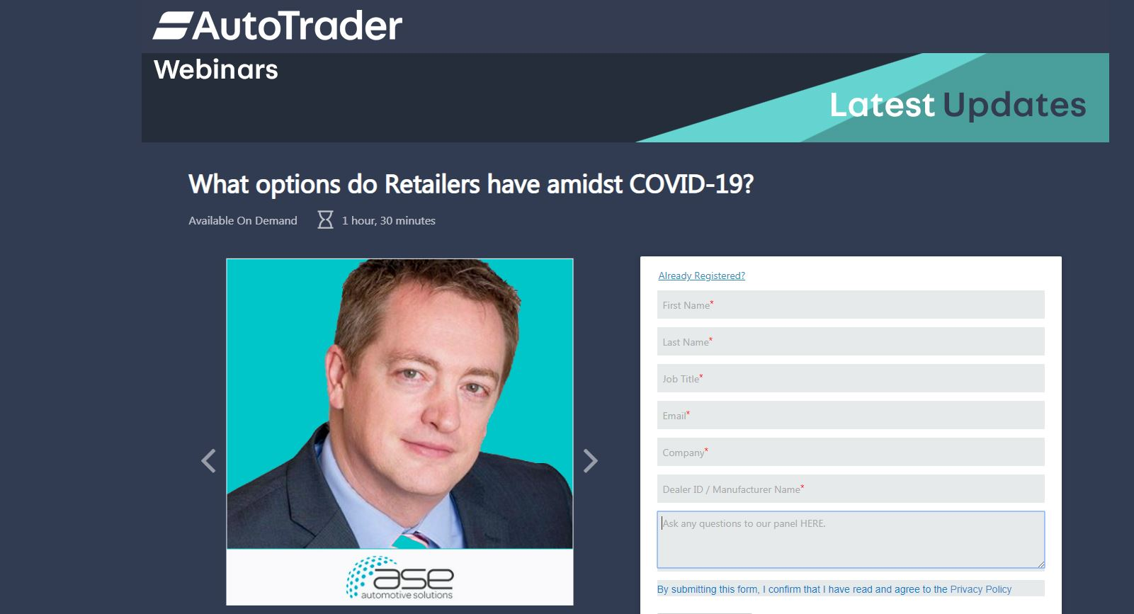 Answers to Furlough Questions raised during the Auto Trader webinar to Mike Jones, Chairman of ASE Plc, on Wednesday 25th March